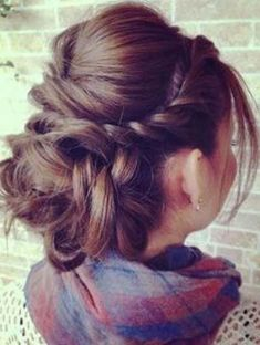French Twist with a Bouffant and Low Bun- Elegant hairstyles for thick hair