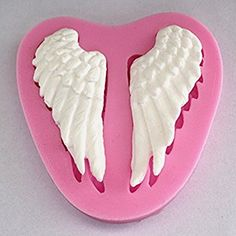 Good Cool Angel Wing Fondant Silicone Sugar Craft Molds DIY Cake Decorating