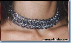 Chainmail & More Wayfarer chain-maille choker, Handcrafted chainmail necklace jewelry Metal Choker, Slave Bracelet, Chain Mail, Jewelry Necklaces, Bracelets, Wayfarer, Chokers, Classy, Band