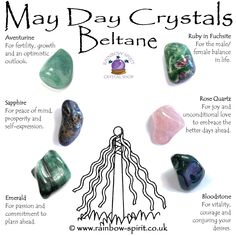 May Day crystals set for Beltane, created by Rainbow Spirit Crystal shop Crystal Shop, Crystal Magic, Crystal Healing Stones, Crystal Guide, Reiki Stones, Beltane, Crystals And Gemstones, Stones And Crystals, Celtic