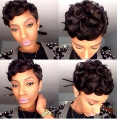 Stupendous Pin Curls Short Haircuts And Curls On Pinterest Hairstyle Inspiration Daily Dogsangcom