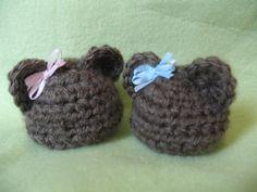 Micro preemie Baby Bear Hat Pattern - Calvin's Hats**