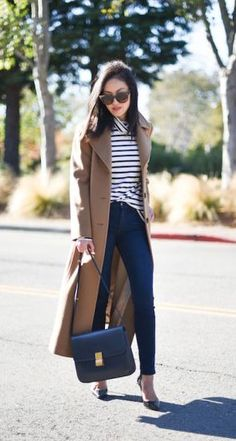 #fall #fashion / camel trench coat