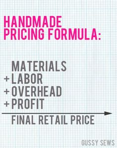 Running Your Craft Business: Awesome Tips for Pricing Your Goods