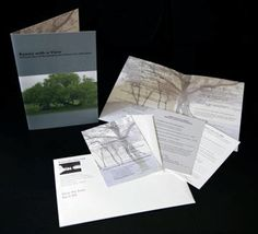 Project: Rooms With a View - Invitation Set    Complete invitation package design: invitation, reply card and envelope,  directions, donation card, outer envelope