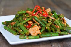 Stir Fried Pork and Green Beans with Chili Paste | Pad Prik King Moo | ผัดพริกขิงเนื้อหมู