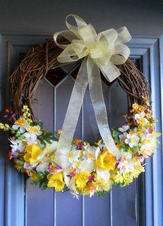 Yellow Spring Wreath....Fun....