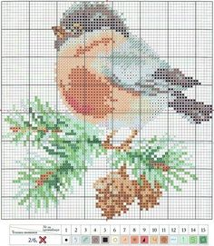 This links to a number of Christmas themed counted cross stitch patterns - the poinsettia is lovely