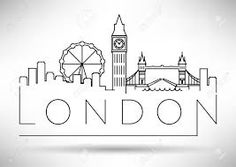 Image result for city line silhouette typography design london