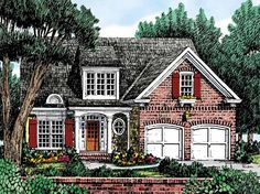 Cottage House Plan with 1634 Square Feet and 3 Bedrooms from Dream Home Source | House Plan Code DHSW29048