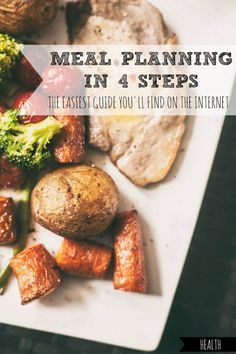 Does just the idea of meal planning make your palms sweat? Here's the easiest guide you'll find on the internet, with nothing too fancy or intimidating.