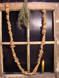 Oodlekadoodle Primitives: HOW TO MAKE SWEET POTATO GARLAND!