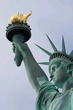 designed and made in France, lives in America-the statue of Liberty
