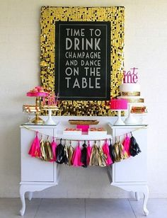 This is cute for a decorative sweets table and then have another with alcohol
