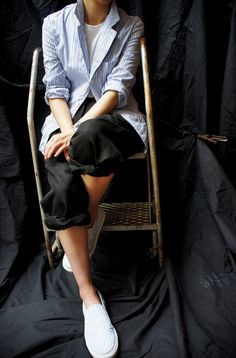 COMME des GARCONS SHIRT ( FRANCE ) STRIPE JACKET www.lancah.com