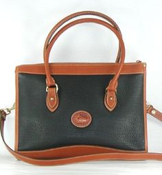 Authentic Dooney and Bourke All Weather Leather Shoulder Satchel