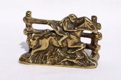 Solid brass envelope holder  vintage  in good coition by UKAmobile