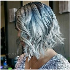 Denim Dye Is the Most Versatile Take on the Rainbow Hair Trend ❤ liked on Polyvore featuring hair, hairstyle and makeup