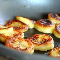 Honey bananas. only honey, banana and cinnamon and ALL good for you. They're amazing crispy goodness.