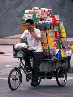 Beijing - The Loaded Bike(c) by Lucy in London, via Flickr