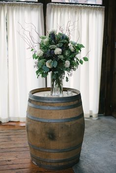 The open woodwork, greenery, and succulents gave this Brooklyn Winery Wedding a modern, romantic vibe paired perfectly with rustic-chic touches. Floral Wedding Cakes, Wedding Flower Decorations, Wedding Flowers, Flowers Decoration, Trendy Wedding, Rustic Wedding, Wedding Day, Dream Wedding, Wedding Shit