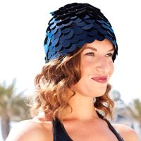 a water workout must for #vintage #spa #style - a swim chapeau! Dig this petal beauty on @Aqualillies