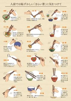 Japanese Manners about Chopsticks Japanese Words, Japanese Art, Japanese Things, Japanese Design, Japanese Language, Food Illustrations, Japanese Culture, Manners, Etiquette