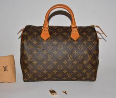 Louis Vuitton Monogram Speedy 30 Brown Tote Bag. Get one of the hottest styles of the season! The Louis Vuitton Monogram Speedy 30 Brown Tote Bag is a top 10 member favorite on Tradesy. Save on yours before they're sold out!