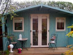 summer house blues pretty painted garden shed dreams of a studio pinterest gardens summer and house
