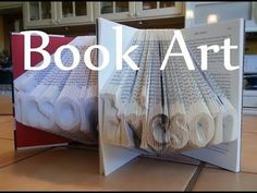 Folded Book Art - Great video tutorial, I totally want to try this. Make pattern in photoshop here: https://www.youtube.com/watch?annotation_id=annotation_2186730299&feature=iv&src_vid=DJ9kFzhszw0&v=ZhSlHnhqys0