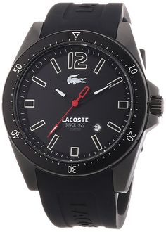 Lacoste 2010662 Mens Black Seattle Watch * Find out more about the great product at the image link.