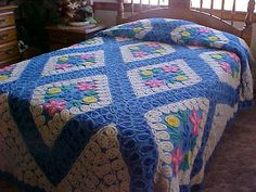 Beautiful 50's chenille bedspread with thick tufts of by designer2, $299.00