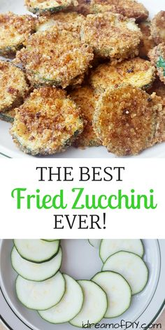 The Best Fried Zucchini Recipe Ever! An easy parmesan zucchini chips recipe that is sure to please your whole family. The Best Fried Zucchini Recipe Ever! An easy parmesan zucchini chips recipe that is sure to please your whole family. Parmesan Zucchini Chips, Fried Zucchini Recipes, Zucchini Pommes, Zucchini Chips Recipe, Bake Zucchini, Baked Fried Zucchini, How To Fry Zucchini, Easy Zuchinni Recipes, Zucchini Fries Baked