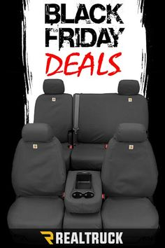 Black Friday Deals start Nov. 23rd! Our seat covers are up to 20% off! From Carhartt to Covercraft that will give you the style you're looking for a price you'll love. Shop our best deals of the year! Hurry now as sales will end soon!    Black Friday Deals begin Nov. 23rd! Up to 20% off seat covers! We carry many brands, including Covercraft Carhartt, so you will be sure to find the style you're looking for, at a price you'll love. Shop our best deals of the year! Hurry now - sale ends soon!