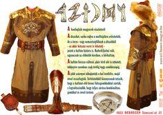 IX. -X. sz. HONFOGLALÁS KORI talpasíjász bőrcsizma. Barna színű széles bőr/nemez fegyveröv, bőr/vászon köntös /kaftán/. NAZCA Műhely