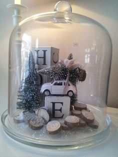 Love this- with Noel blocks Christmas Jars, Christmas Love, Rustic Christmas, Winter Christmas, All Things Christmas, Vintage Christmas, Winter Diy, Christmas Projects, Holiday Crafts