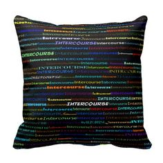 Intercourse Text Design I Throw Pillow