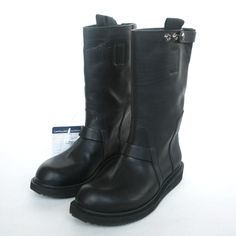 Issey Miyake Men Black Leather Chelsea Boots 4AuomT