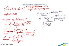 CFA Level II 2013 - Reading 55 - The Theory of Active Portfolio Management Portfolio Management, Career Development, Theory, Math Equations, Reading, Youtube, Reading Books, Youtubers, Youtube Movies
