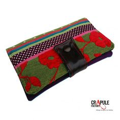 Portefeuille originale création bohème tapisserie fleur patchwork coloré