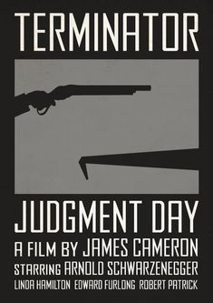 Alternate minimalist poster for Terminator 2: Judgment Day