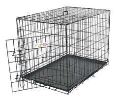 Shop for Majestic Pet 'Titan' Single Door Folding Dog Crate. Get free delivery On EVERYTHING* Overstock - Your Online Dog Supplies Store! Get in rewards with Club O! Small Sized Dogs, Medium Sized Dogs, Large Dogs, Cat Crate, Wire Dog Crates, Airline Pet Carrier, Puppies Tips, Dog Cages, Atelier