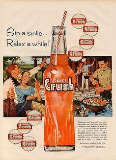 Vintage soda pop ad, I loved orange Crush