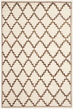 Mosaic Ivory / Brown Geometric Rug