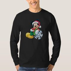 Mickey Mouse on Snowflake T-Shirt - tap to personalize and get yours