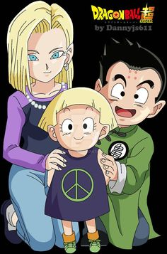 Android 18, Marron, and Krillin