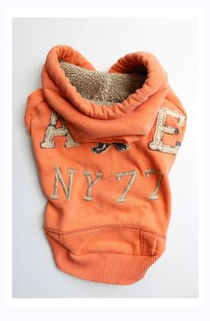 Orange American Eagle Upcycled Dog Hoodie with Sherpa Fleece Lined Hood by PupCycleCanada on Etsy Dog Hoodie, Hoodies, Sweatshirts, Upcycle, Baby Shoes, Eagle, Canada, Orange, Pets