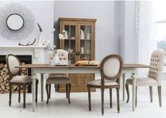 The classic styled Frank Hudson Maison Balloon Dining Set