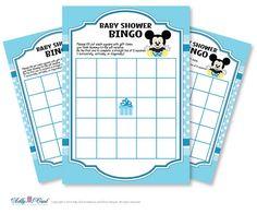 Blue White Mickey Mouse Bingo Game Printable by adlyowlpartyprints