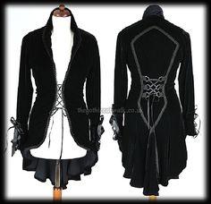 Black Velvet Gothic Vampire Corset Jacket